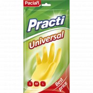 Перчатки резиновые «Practi.Universal» желтые, размер S.