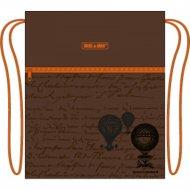 Сумка для обуви «Mike&Mar» Глобус, MB-158, коричневый/оранжевый кант