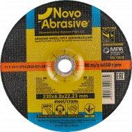 Круг шлифовальный по металлу «Novoabrasive» 27, 14А, 230, 6,0 22,23, WG23060.