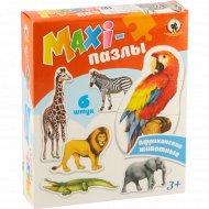 Пазлы-maxi «Африканские животные» 6 элементов.