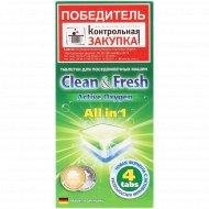 Таблетки для посудомоечной машины «Clean & fresh» 4 шт.
