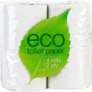 Бумага туалетная «Eco» двухслойная, 4 рулона.