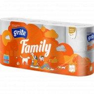 Туалетная бумага «Grite» Family 8 шт.
