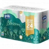 Туалетная бумага «Grite» blossom, 24 рулона.