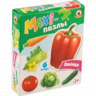 Пазлы-maxi «Овощи» 6 элементов.
