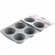 Форма для кексов GC14454, силиконовая, 26.2x16.5x3.5 см.