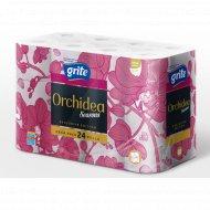 Туалетная бумага «Grite Orchidea» Seasons pink, 24 рулона.