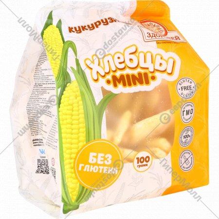 Хлебцы «Здоровей» mini, кукурузные, 100 г.