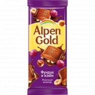Шоколад «Alpen Gold» фундук и изюм, 90 г.