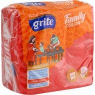 Салфетки бумажные «Family» красные, 24x24 см.