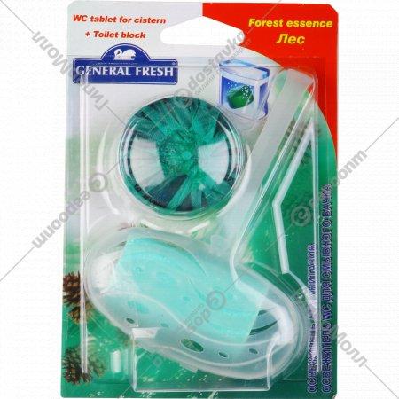 Освежитель для унитазов и смывного бочка «General Fresh» лес, 2х40 г.