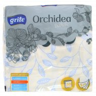 Салфетки бумажные «Grite» Orchidea, 33x33, White Branch.