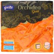 Салфетки бумажные «Grite» Orchidea, 33x33, Gold Flamy.