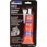 Герметик силиконовый «Abro» красный, 85г.