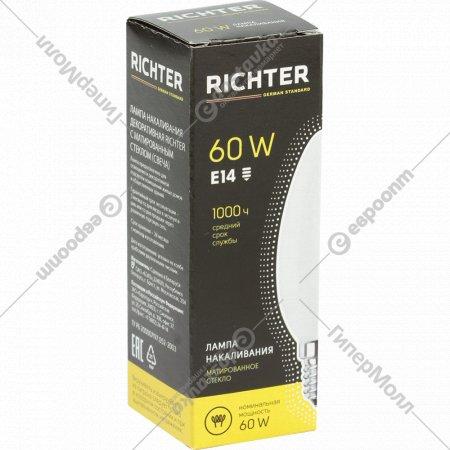 Лампа накаливания «Richter» Е14, 60 Вт.