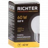 Лампа накаливания «Richter» Е27, 60 Вт.