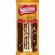 Шоколад молочный «Nestle» с арахисом декорированный, 85 г.