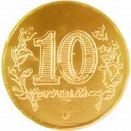 Изделия кондитерские фигурные «10 рублей» монеты, 1 шт