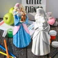 Изделие декоративное «Принцесса с котом» декорированное.