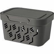 Ящик для хранения «Econova» Deluxe, 433233511, серый, 1.9 л