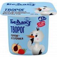 Творог «Беллакт» персик и клубника, 4%, 100 г