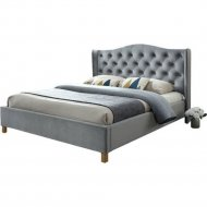 Кровать «Signal» Aspen, Velvet, серый, 160х200 см