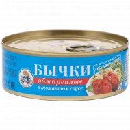 Бычки обжаренные в томатном соусе «Рыбачка Соня» 240 г.