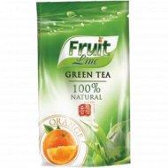 Чай зеленый листовой «Fruit Line» апельсин, 100 г.
