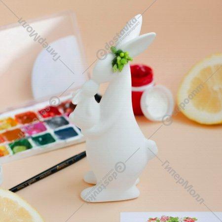 Изделие декоративное «Зайчиха с зайчонком».