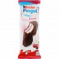 Пирожное бисквитное «Kinder Pingui» молочно-вишневая начинка, 30 г.