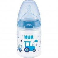 Бутылочка «Nuk» First Choice Plus 10743875, голубая