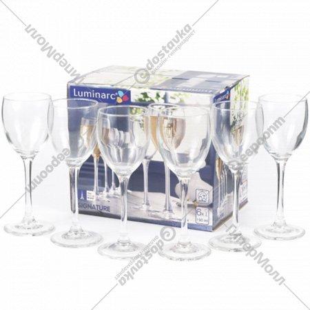 Набор бокалов стеклянных «Luminarc» Signature 6 шт, 250 мл