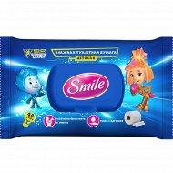 Влажная туалетная бумага «Smile» Фиксики, для детей, 44 шт.