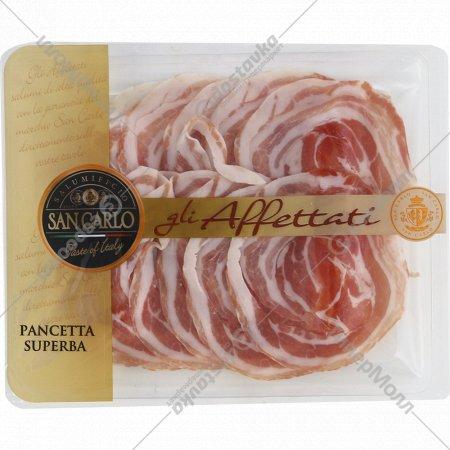 Продукт из свинины «San Carlo Pancetta Superba» сыровяленый, 100 г.