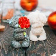 Набор «Мишка с букетом 3» декорированный.