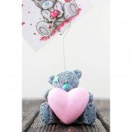 Держатель «Мишка с сердцем» декорированный.