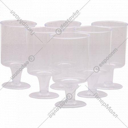 Рюмки «Кристалл» одноразовые, прозрачные, 0.1 л, 6 шт.