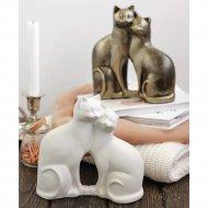 Статуэтка «Влюблённые коты» декорированная.