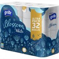 Туалетная бумага «Blossom White» трехслойная, 32 рулона.