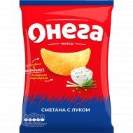Чипсы из сырого картофеля «Онега» сметана с луком, 150г.
