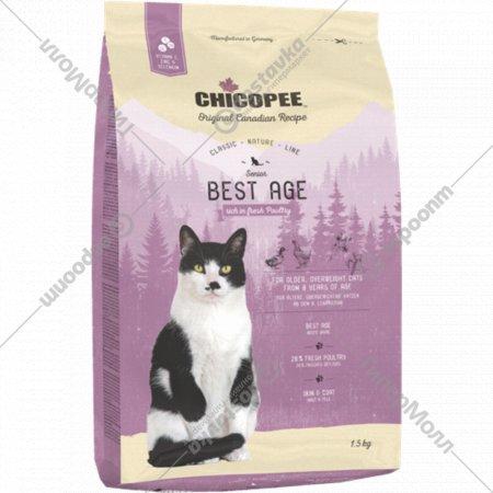 Корм для пожилых котов «Чикопи» Cnl best age, 1.5 кг