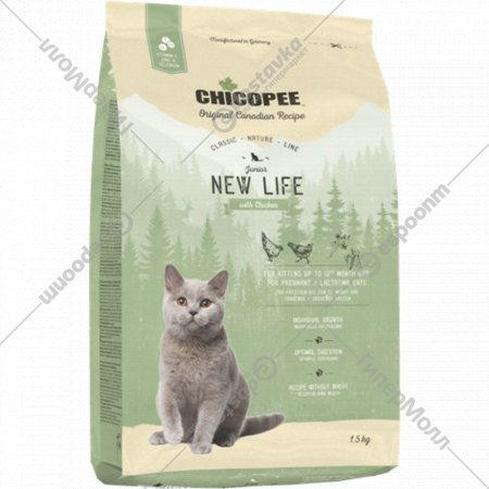 Корм для котят и беременных кошек «Чикопи» Сnl new life, 1.5 кг
