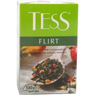 Чай зеленый «Tess» с ароматом белого персика и клубники 100 г.