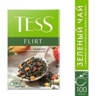 Чай зеленый «Tess» с ароматом белого персика и клубники, 100 г.