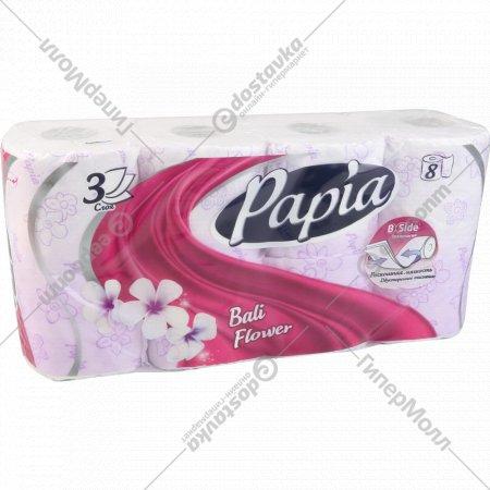 Бумага туалетная «Papia» Балийский цветок, 8 рулонов.