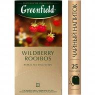 Чайный напиток «Greenfield» земляника и клюква, 25 пакетиков.
