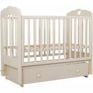 Кровать детская «Топотушки» Мария-6, 90, сердечко, слоновая кость