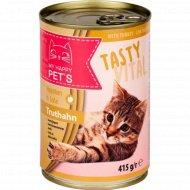 Влажный корм для кошек «My happy pets» с индейкой, 415 г.