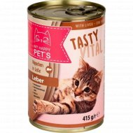 Влажный корм для кошек «My happy pets» с печенью, 415 г.
