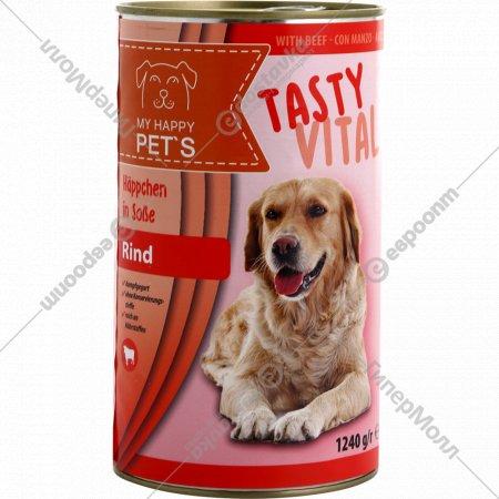 Корм для собак «My happy pets» говядина, 1240 гр.